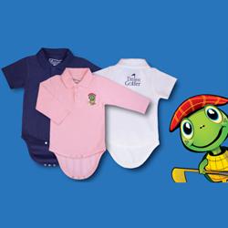 The Littlest Golfer Tour Polo Onesie Short Sleeve - Boys