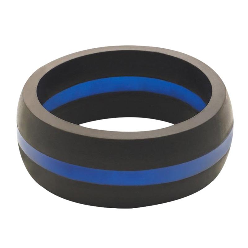 QALO Slicone Wedding Ring - Thin Blue Line - Mens