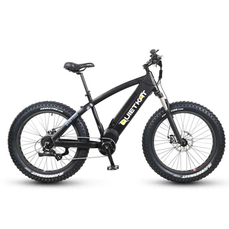 QuietKat FatKat Warrior Electric Fat Tire Bicycle - QKM1000 - Black