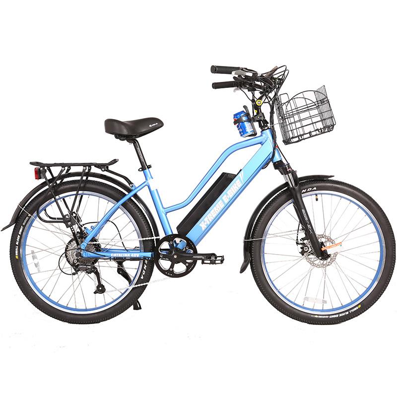 X-Treme E-Bike Catalina Step Thru 48V Electric Bicycle - Blue