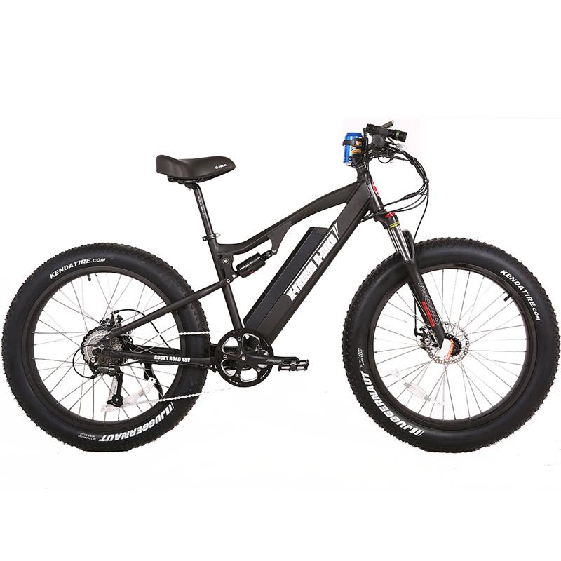 X-Treme E-Bike Rocky Road Fat Tire Electric Bicycle - Black