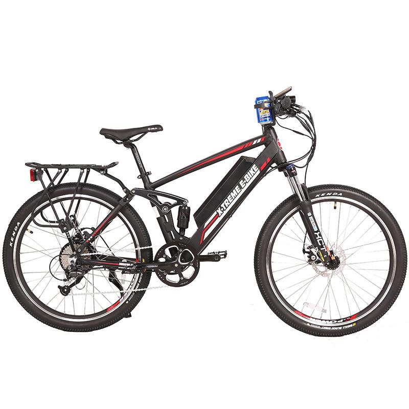 X-Treme E-Bike Rubicon 48V Electric Bicycle - Black/Red/White