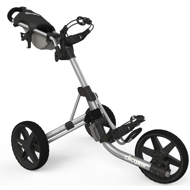 Clicgear 3.5+ Golf Push Cart - Silver/Black