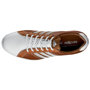 Adidas adicross Tour Spikeless Golf Shoes - Brown/White at