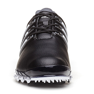 Adidas tour 360 atv m1 scarpe da golf nero / bianco / uomo d'argento
