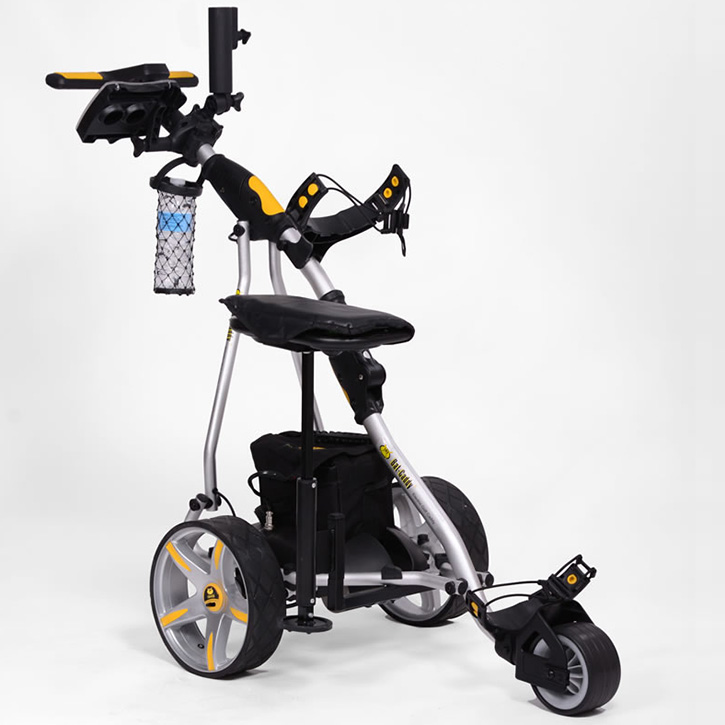 Electric Motor Kits For Golf Carts: Bat-Caddy X3 Pro Electric Golf Push Cart W/ Free Accessory