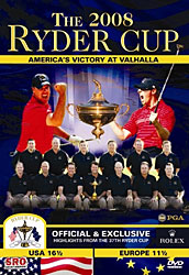 THE 2008 RYDER CUP DVD
