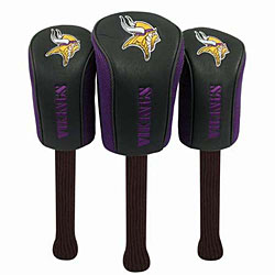 Minnesota Vikings Set Of Three Barrel Headcovers
