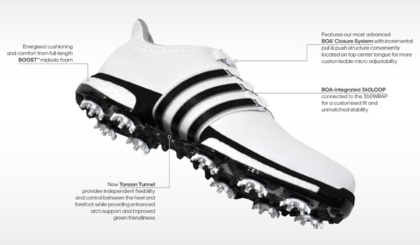 adidas tour 360 boost boa golf shoes