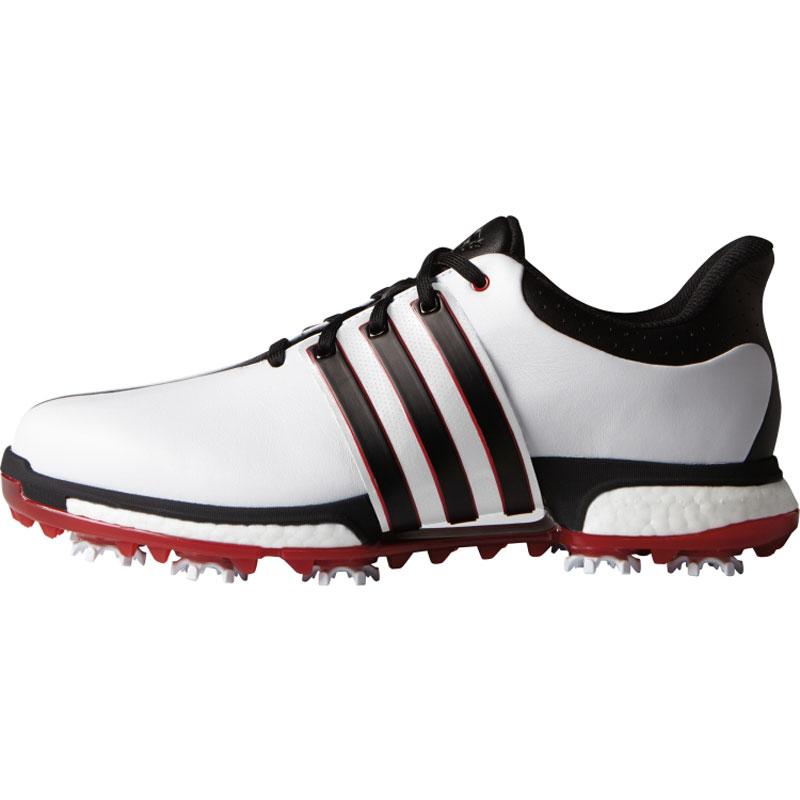 2016 Adidas Tour 360 Boost Golf Shoes - White/Black/Red