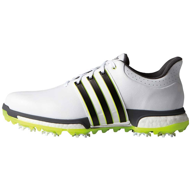 2016 Adidas Tour 360 Boost Golf Shoes - White/Black/Yellow