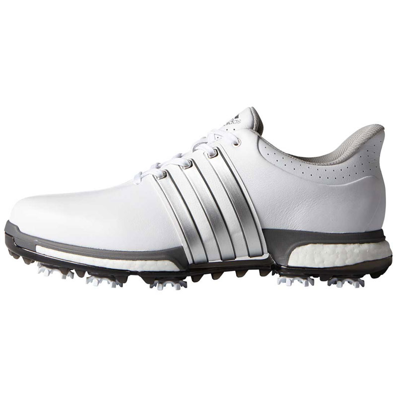 2016 Adidas Tour 360 Boost Golf Shoes - White/Silver
