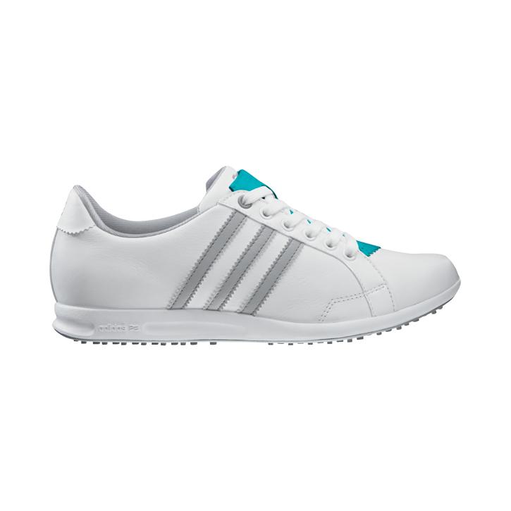 Adidas adicross II Golf Shoes - Womens White/Chrome/Silver