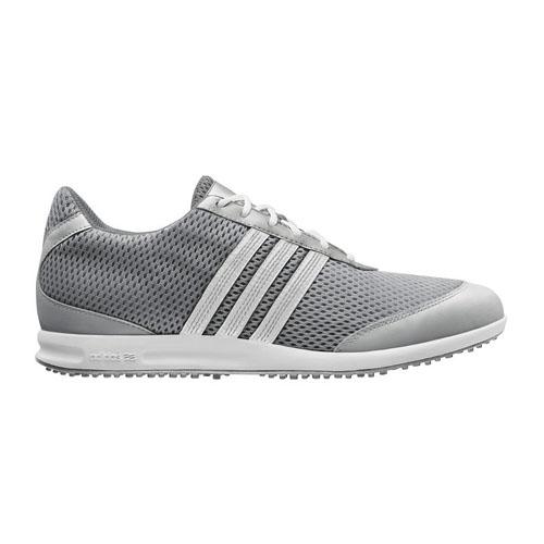 Adidas 2012 adiCross S Womens Golf Shoes - Metallic Silver/White