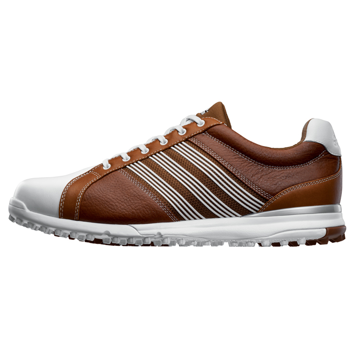 Adidas adicross Tour Spikeless Golf Shoes - Brown/White