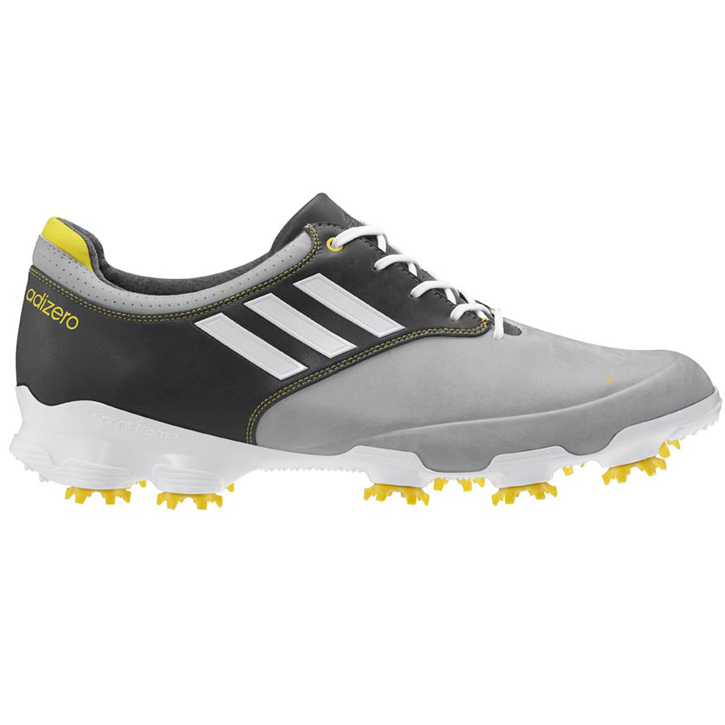 Adidas adizero Tour Golf Shoes - Mens Wide Grey/White/Graphite