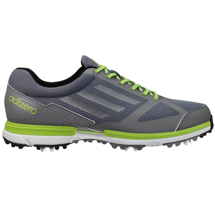 Image of Adidas adizero Sport Golf Shoes - Mens Lead/Silver/Slime