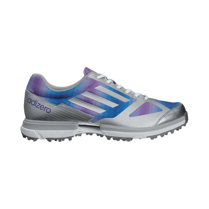 Adidas adizero Sport Golf Shoes - Womens Purple/Silver/Purple Image