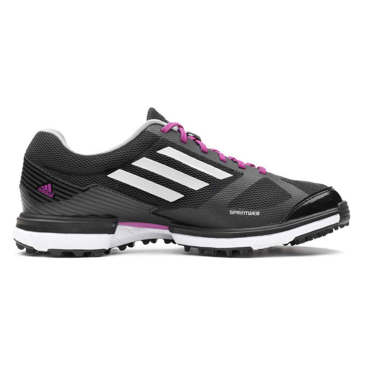 Adidas adizero Sport Golf Shoes - Womens Black/White/Passionfruit