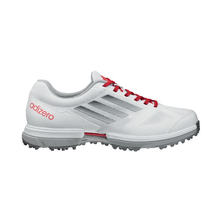 Adidas adizero Sport Golf Shoes - Womens White/Silver/Punch Image