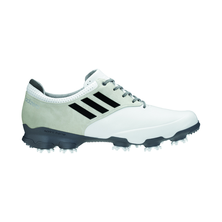 Image of Adidas adizero Tour Golf Shoes - Mens Wide White/Black/Silver