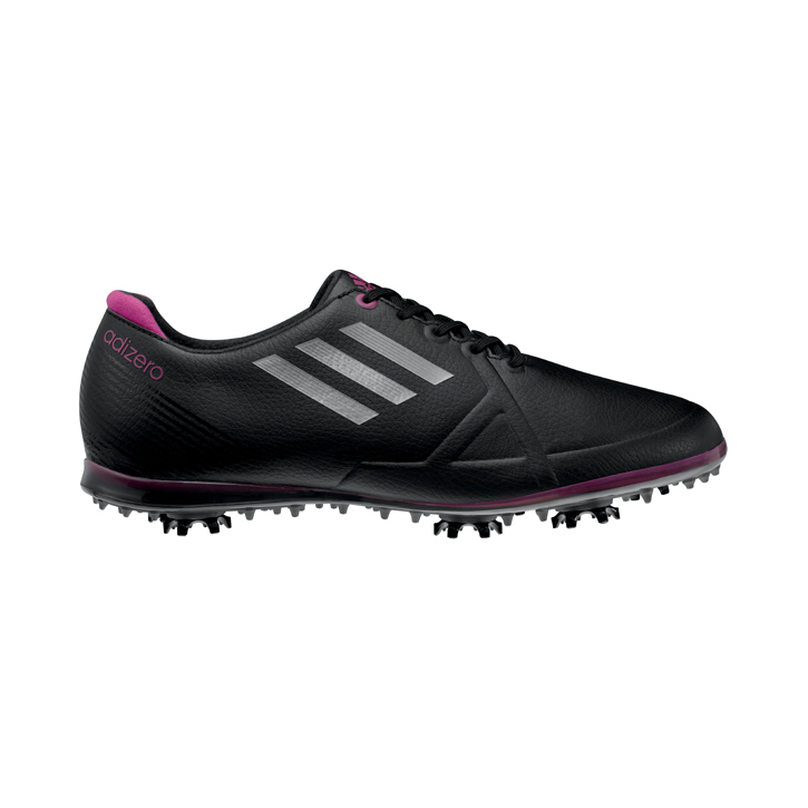 Adidas adizero Tour Golf Shoes - Womens Black/Silver/Passionfruit Image
