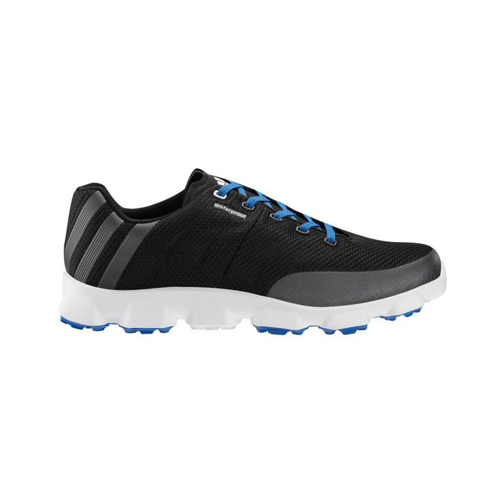 Adidas Crossflex Golf Shoes - Mens Black/Silver/Blue