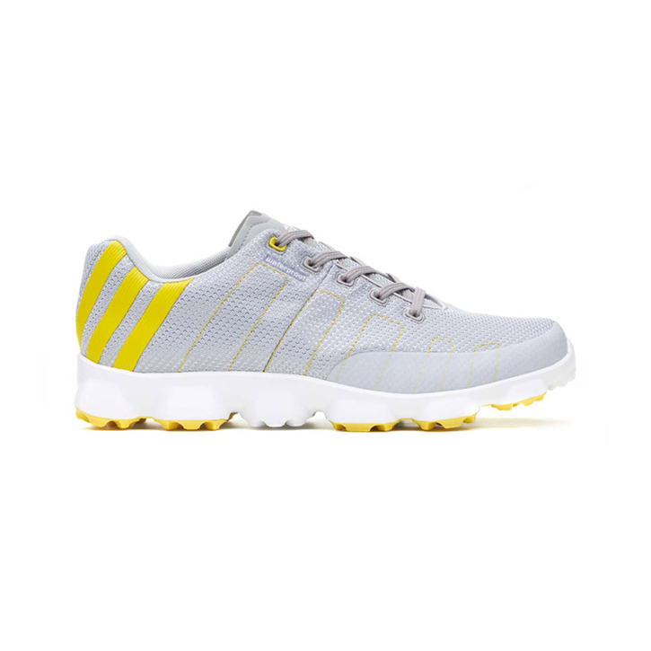 Adidas Crossflex Golf Shoes - Mens Chrome/Yellow/White