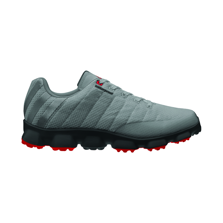 Image of Adidas Crossflex Golf Shoes - Mens Iron/Black/Ruby