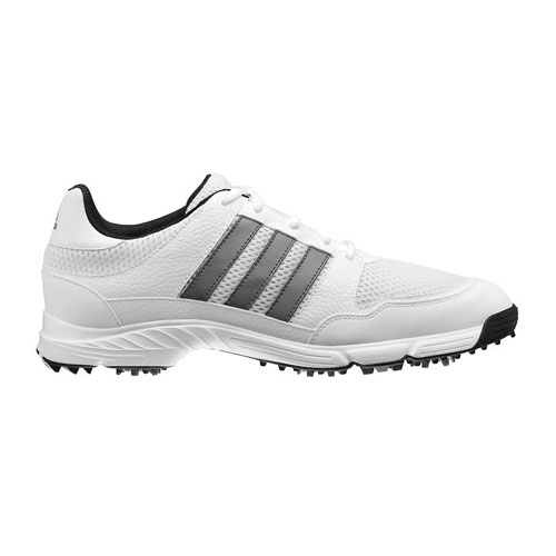Adidas 2013 Tech Response 4.0 Mens Golf Shoes - White/White/Metallic Silver