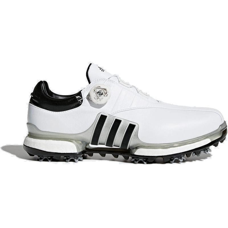 2018 Adidas Tour 360 EQT BOA Golf Shoes - White/Silver/Black