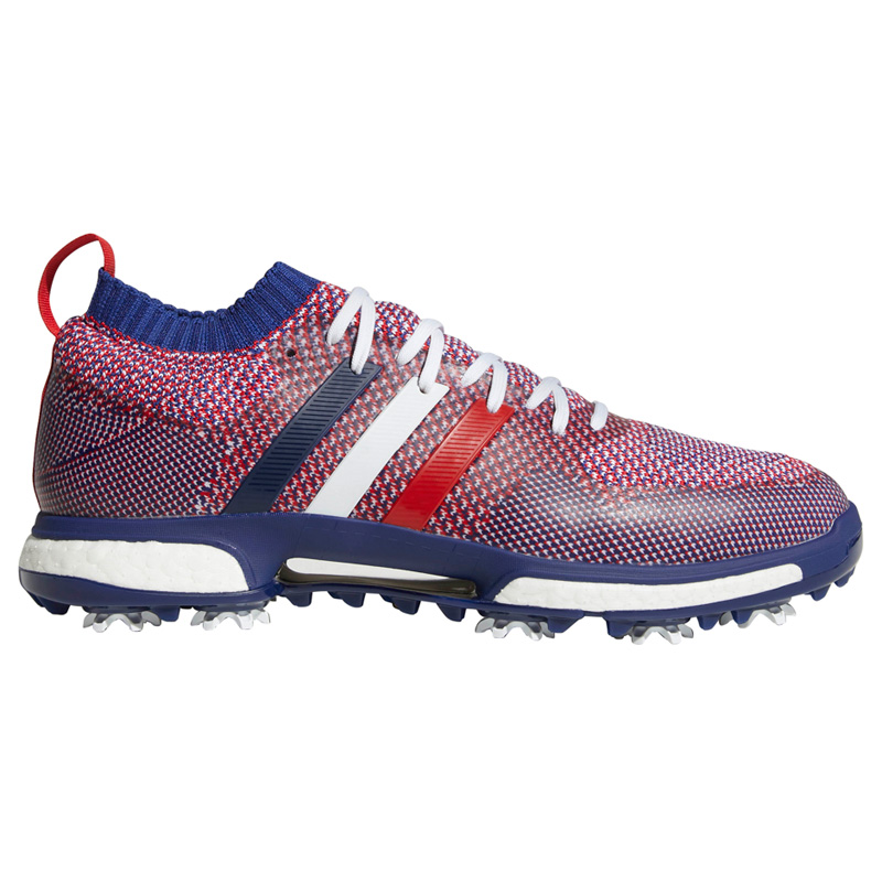 2018 Adidas Tour 360 Knit Golf Shoes - Red/White/Blue