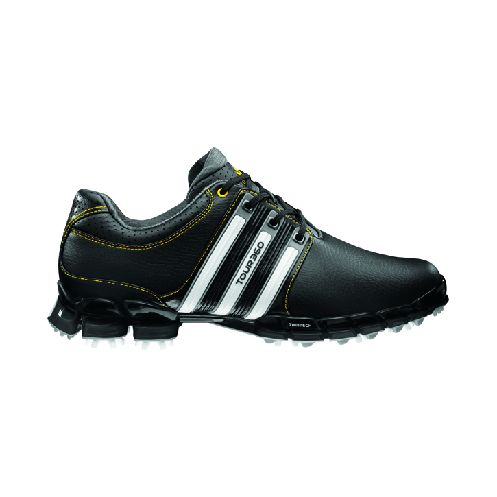 Adidas Tour 360 ATV M1 Golf Shoes - Mens Wide Black/White/Yellow