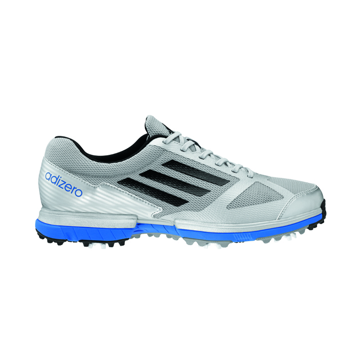 Image of Adidas adizero Sport Golf Shoes - Mens Silver/Blue