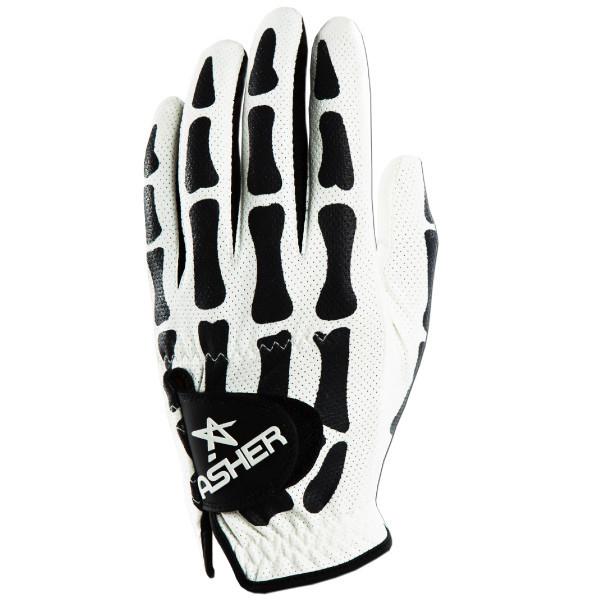Asher Death Grip Cooltech Golf Glove - Mens White/Black