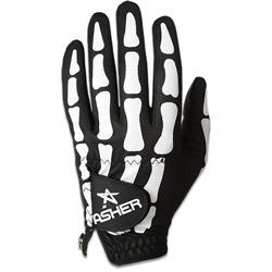 Asher Death Grip Cooltech Golf Glove - Mens Black/White
