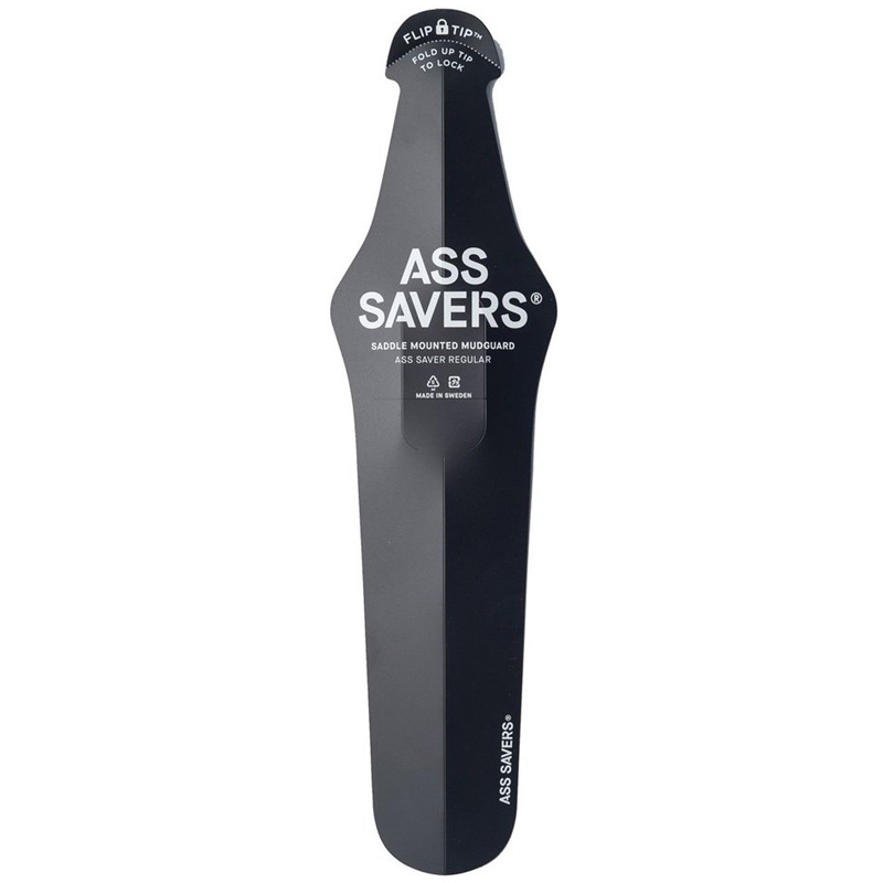 Ass Savers Generation 4 Rain Fenders - Clip On Bike Fender - Black