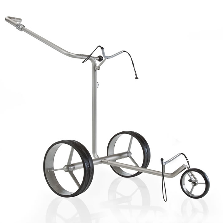 Bat Caddy JuCad Drive Stainless Steel Electric Push Cart