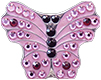 Bella Crystal Ball Marker - Pink Butterfly
