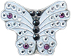 Bella Crystal Ball Marker - White Butterfly