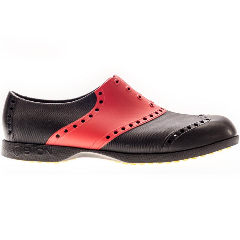 Biion Golf Shoes - Saddle - Black/Cherry
