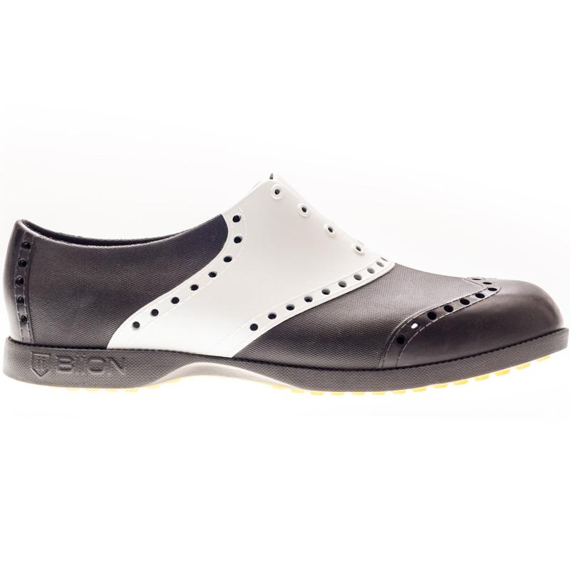 Biion Golf Shoes - Saddles - Black/White