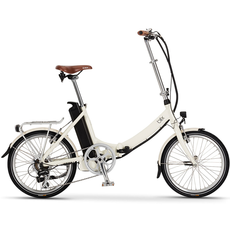 Blix Vika+ Folding Electric Bicycle - Cream