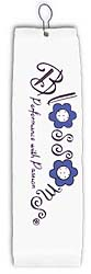 Blossoms White Golf Towel