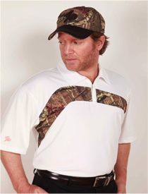 Boo Weekley Knit Polo Shirt - Glacier/Mossy Oak