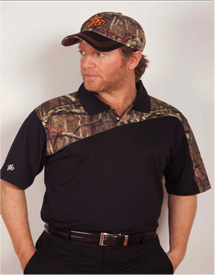 Boo Weekley Polo Shirt - Black/Mossy Oak