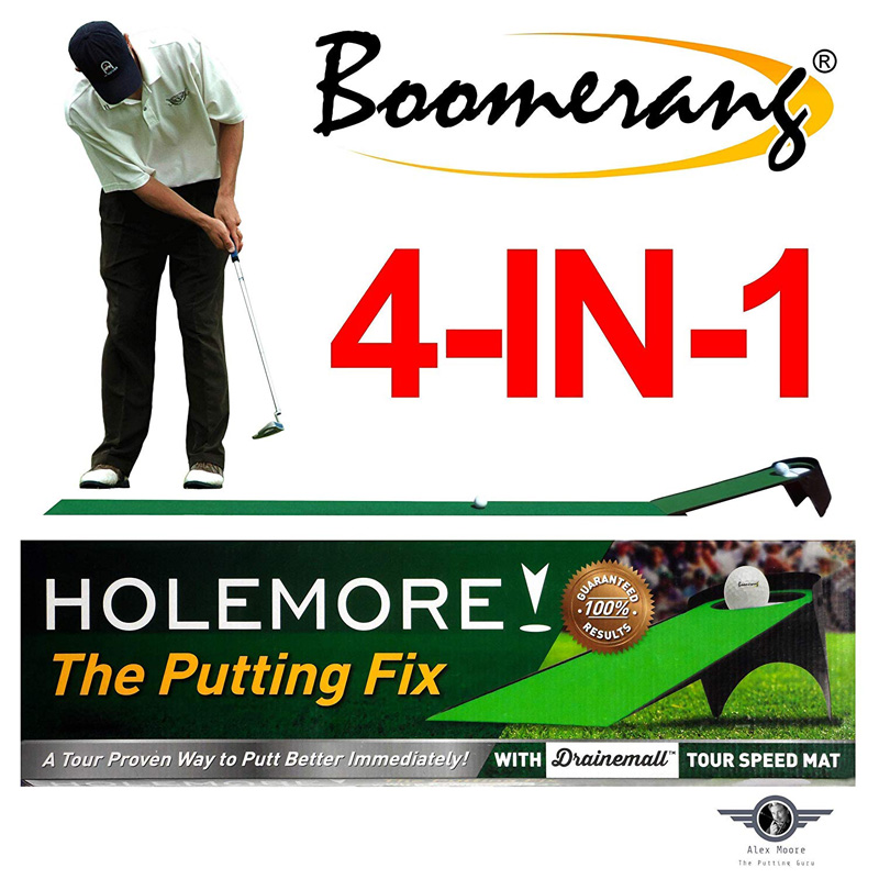HOLEMORE The Putting Fix - Boomerang Golf Putting System