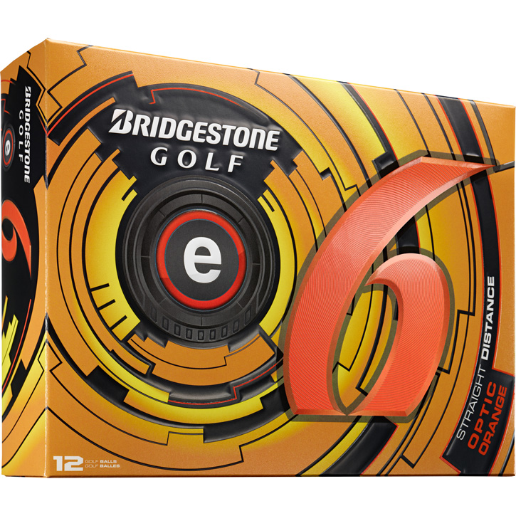 Bridgestone e6 Golf Balls (1 Dozen) - Orange