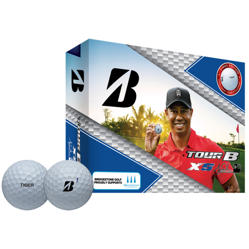 2019 Bridgestone Tour B XS Golf Balls - TW Edition (1 Dozen) - White