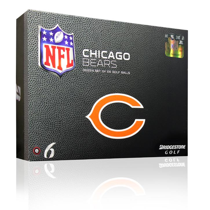 Bridgestone e6 NFL Golf Balls - Bears (6 Dozen)